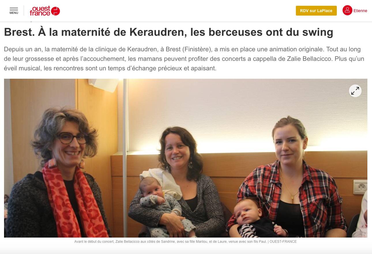 Zalie Bellacicco à la maternité Keraudren