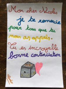 mots des élèves à Nicolas Hergoualc'h